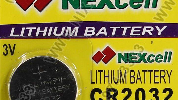 Батарейка CR2032 Nexell,литиевая плоская круглая,3В, BIOS 1 шт