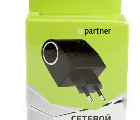 Сетевой адаптер Переходник 220Вт==>>12Вт 1А Partner