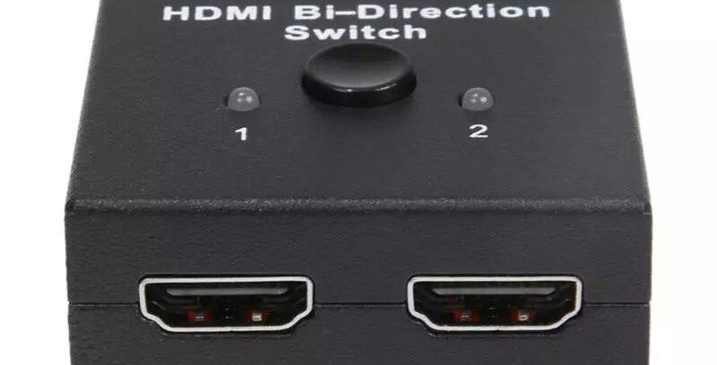Разветвитель/Переключатель HDMI-Splitter 19M/2x19F 1 компьютер=>>2 мон с кнопкой