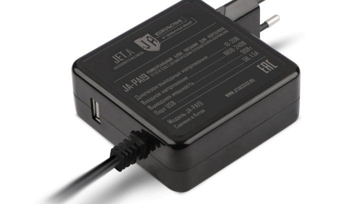 Адаптер питания для ноутбука Jet.A JA-PA19 90Вт/Автомат/USB-1.5A