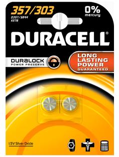 Батарейка LR357/303(SR-44) Duracell 1шт.