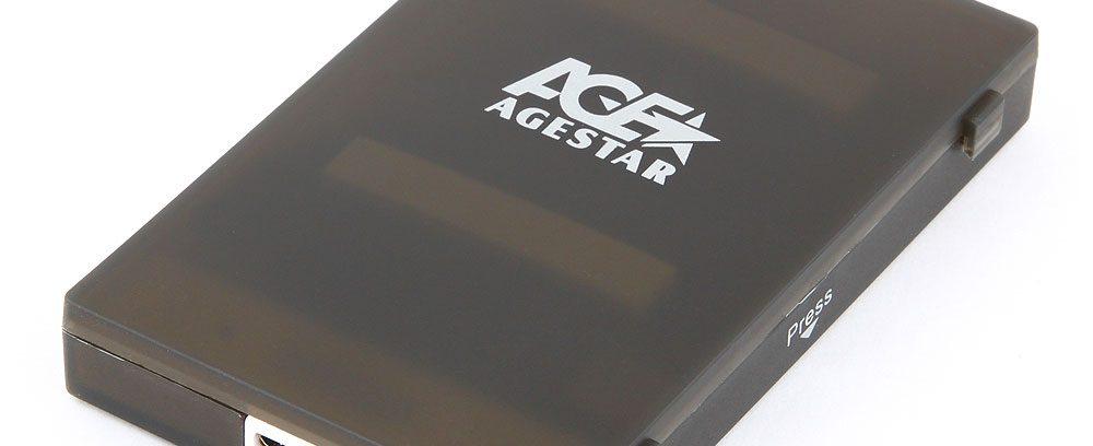 "AgeStar 3UBCP1-6G Black Внешний корпус для 2.5""SATA-устройств, USB3.0,пластик"