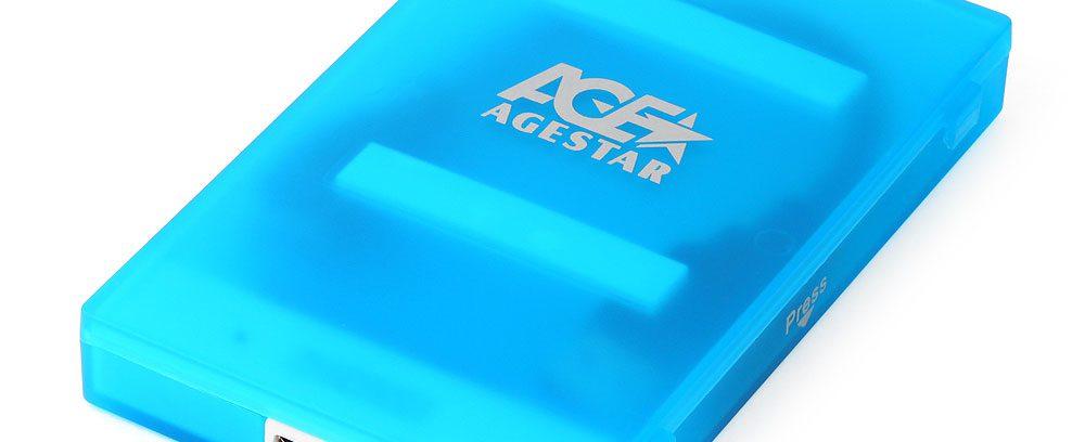 "AgeStar 3UBCP1-6G BLUE Внешний корпус для 2.5""SATA-устройств, USB3.0,пластик"