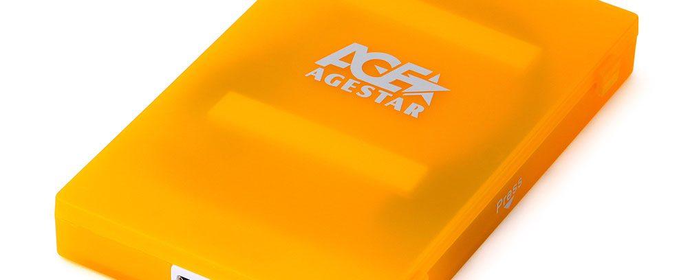 """AgeStar 3UBCP1-6G ORANGE Внешний корпус для 2.5""""SATA-устройств, USB3.0,пластик"""