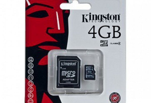 Карта памяти Micro Secure Digital Card 4GB Kingston + адаптер (SD) class 4