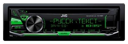 Автомагнитола JVC KD-R487 1DIN/ANDROID/USB/CD/SD/УКВ/FM/4x50Вт/Съём.Панель
