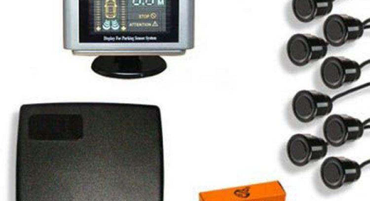 Парковочный радар SHO-ME Y-2612 N08 Black Звук/Свет/0,3-2,5м