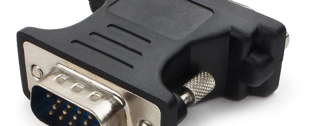 Переходник VGA-DVI 15M/25F Cablexpert A-VGAM-DVIF-01,черный