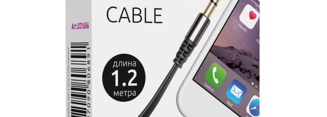 Кабель AUX (Аудио Джек 3.5мм (m-m) Partner 1.2м, черный