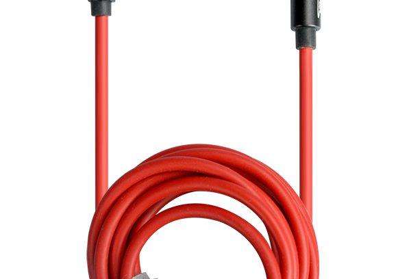 Кабель AUX (Аудио Джек 3.5мм (m-m) Partner угловой,мет.штекеры,1.5м, красно-черн