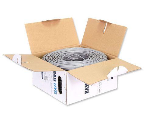 Витая пара БУХТА UTP BaseLevel BL-UTP04-5e кат.5е/CCA/PVC/4пара/0.50мм/обол/305м
