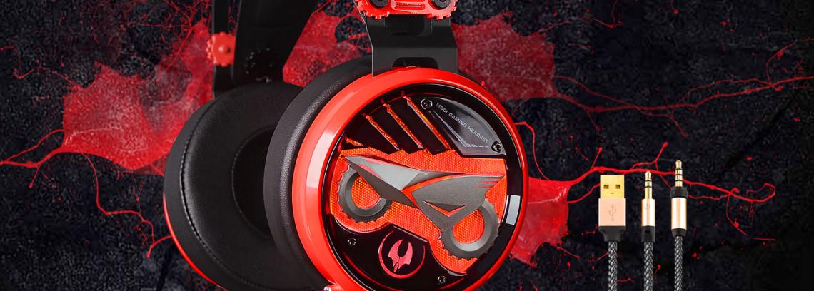 Игровая Гарнитура A4 Bloody M660 USB+3.5mm/RED/LEDПодсветка/Рег.громк/Шумоизол