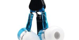 Гарнитура (Капельки) Glylezee провод-молния Алюминиевые/микрофон