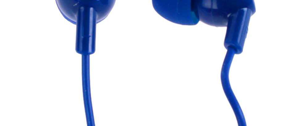 Наушники внутриканальные синие, OLMIO