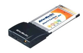 ТВ-FM тюнер AVer TV Cardbus Plus PCMCIA (для ноутбуков) с ВИДЕОЗАХВАТОМ