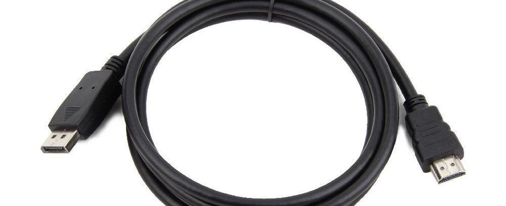 Кабель DisplayPort->HDMI 20M/19M Gembird/Cablexpert CC-DP-HDMI-1M,черный,экр, 1м