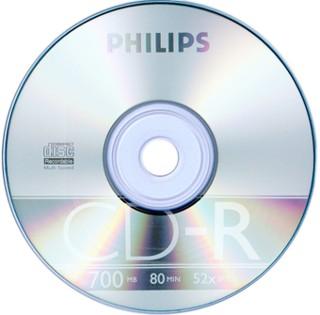 Диск CD-R 700Mb Philips 48-52x 1шт