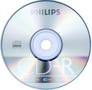 Диск CD-R 700Mb Philips 48-52x 1шт
