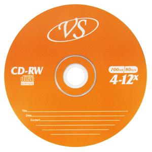 Диск CD-RW 700Mb 1шт