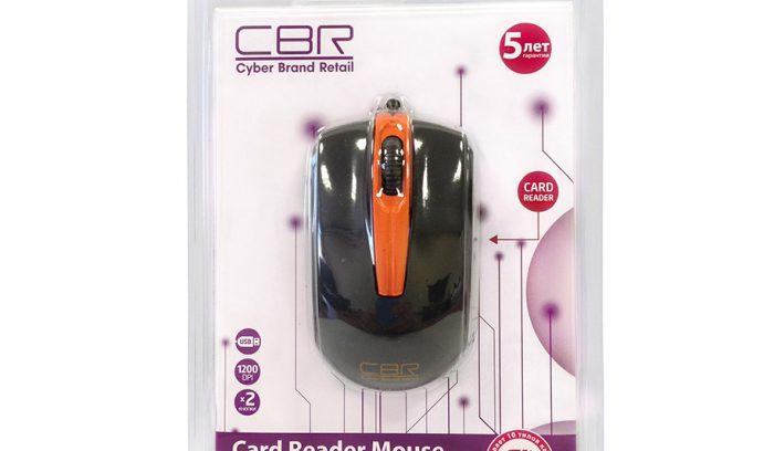 Мышь CBR CM-344 Black с карт-ридером,USB,1200dpi