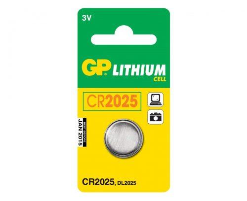 Батарейка CR2025 GP, литиевая плоская круглая,3В, 1шт