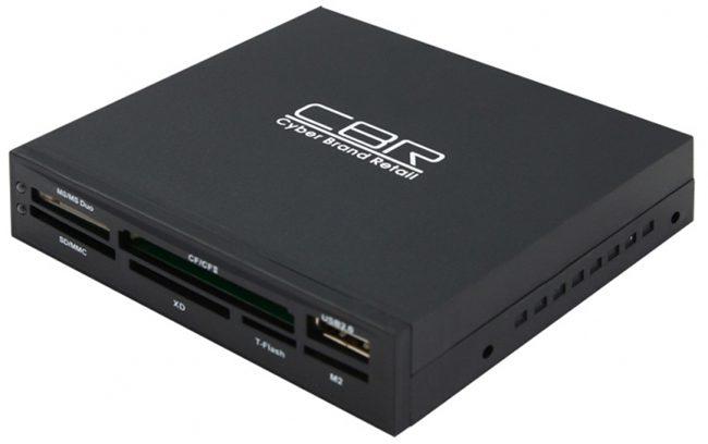 """Карт ридер CBR CR-601 внутренний 3,5"""" черный +USB"""