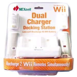 Заряд. устройство-подставка Nexcell CS-20 для Wii, 2 блока аккумуляторов NI-Mh l