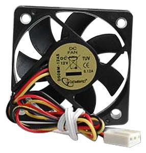 Вентилятор Gembird D50BM-12AS 50x50x10мм,подшипник скольжения,4500RPM,24dBa,3pin
