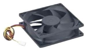 Вентилятор Gembird D6025SM-3,60x60x25,втулка,3pin,25см