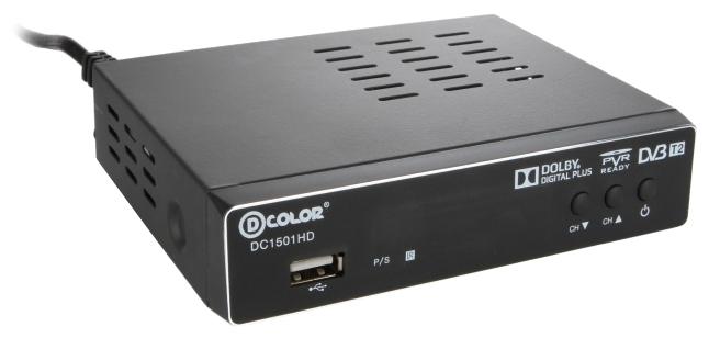 Приставка для Цифрового ТВ D-Color DC1501HD (DVB-T/T2,AC3,Часы,HDMI,RCA,USB/Зап)