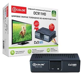 Приставка для Цифрового ТВ D-Color DC911HD (DVB-T/T2,RCA)