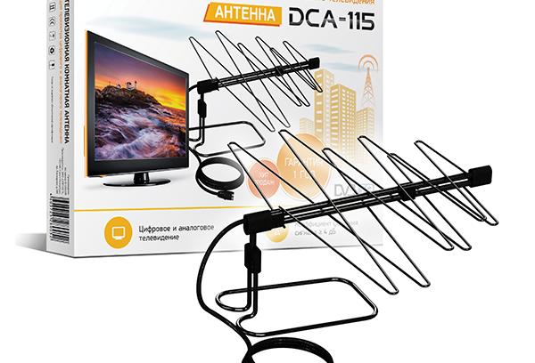 Антенна для Цифрового (DVBT2) и Аналогово ТВ D-Color DCA-115 (Комнатная)