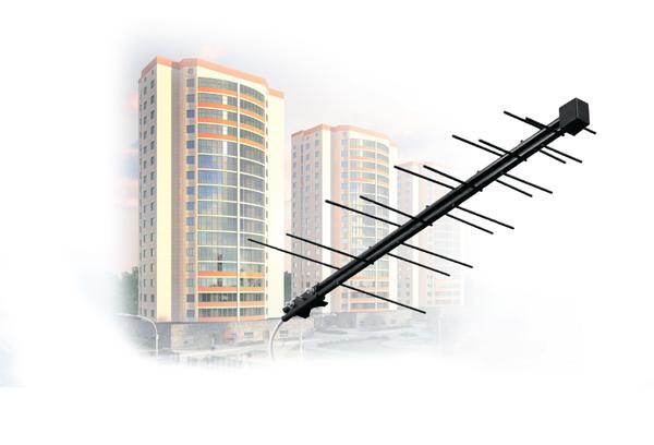 Антенна для Цифрового (DVBT2) и Аналогово ТВ D-Color DCA-711 (Уличная/Пассивная)
