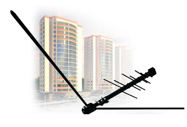 Антенна для Цифрового (DVBT2) и Аналогово ТВ D-Color DCA-719А (Уличная/Активная)