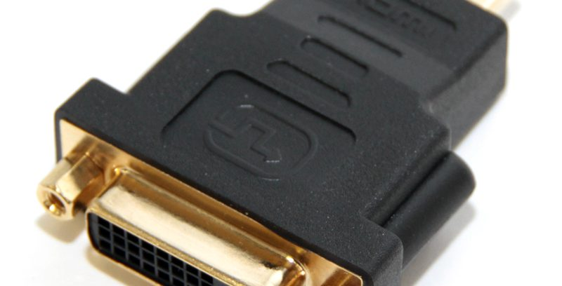 Переходник DVI (24+1) F / HDMI M, 5bites DH1807G зол.разъемы