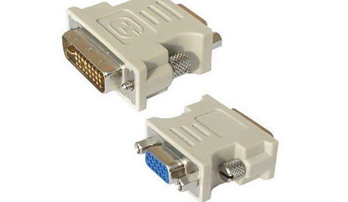 Переходник DVI (24+5) M/VGA F 5bites VD1028G Зол.разъемы