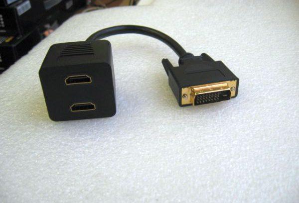 Видеоадаптер DVI-D 25M/2*HDMI 19F 25cm - EDVIM2xHDMIF25