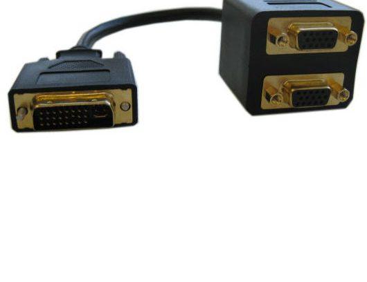 Видеоадаптер DVI-I 29M/2*VGA 15F 25cm - EDVIM2xVGAF25