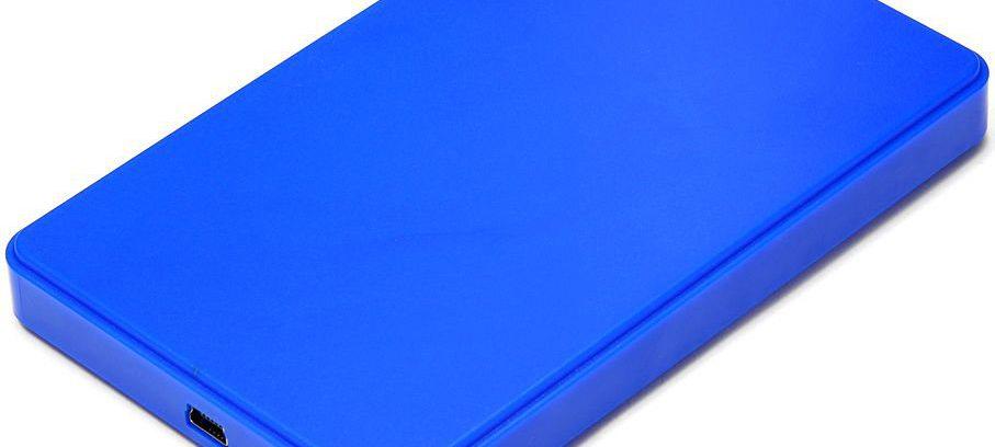 "Gembird EE2-U2S-40P-B Синий Внешний корп для 2.5"" SATA-устройств, USB2.0, пласт"