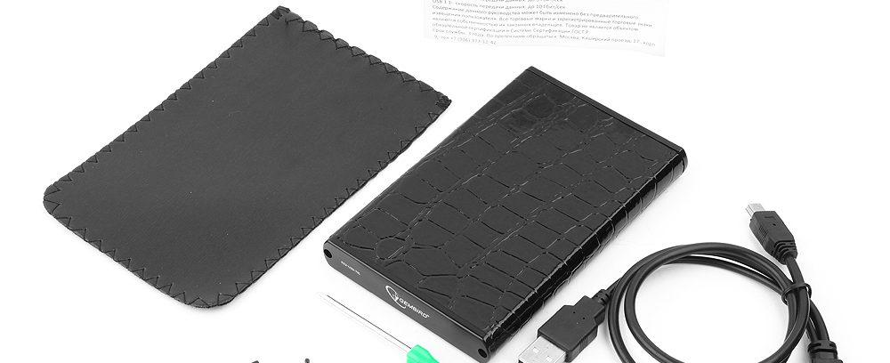 """Внешний корпус для 2.5"""" SATA-устройств, Gembird EE2-U2S-70L,черный,USB 2.0,металл"""