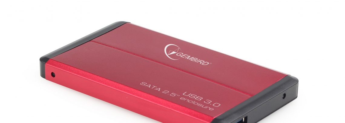 """Gembird EE2-U3S-2-R Красный Внешний корпус для 2.5"""" SATA-устройств, USB3.0, алюм"""
