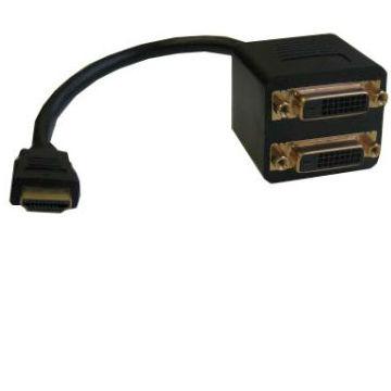 Видеоадаптер HDMI 19M/2*DVI-D 25F 25cm - EHDMIM2xDVIF25