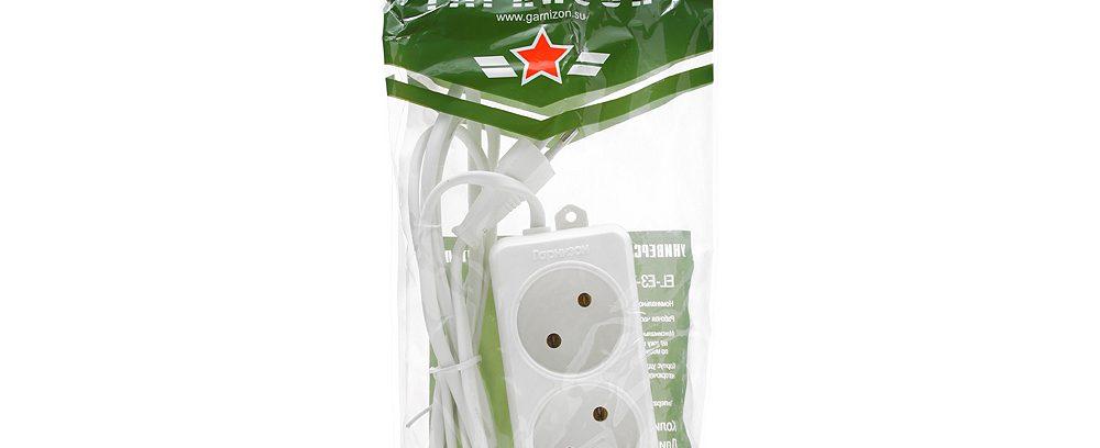 Удлинитель сетевой Гарнизон ЕL-E3-W-2 белый, 3 розетки, 6А, 2м