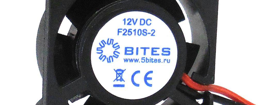 Вентилятор 5bites F2510S-2 25x25x10мм,подшипник скольжения,10000RPM,23.5dBa,2pin