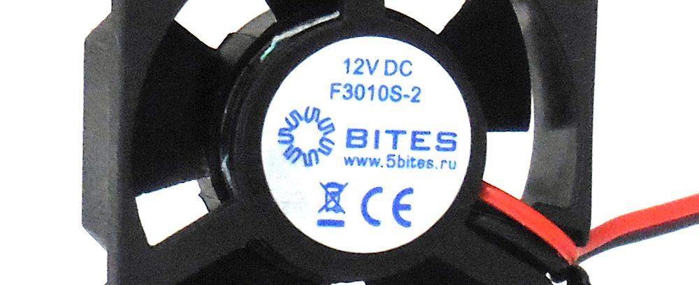 Вентилятор 5bites F3010S-2 30x30x10мм,подшипник скольжения,8000RPM,22.9dBa,2pin