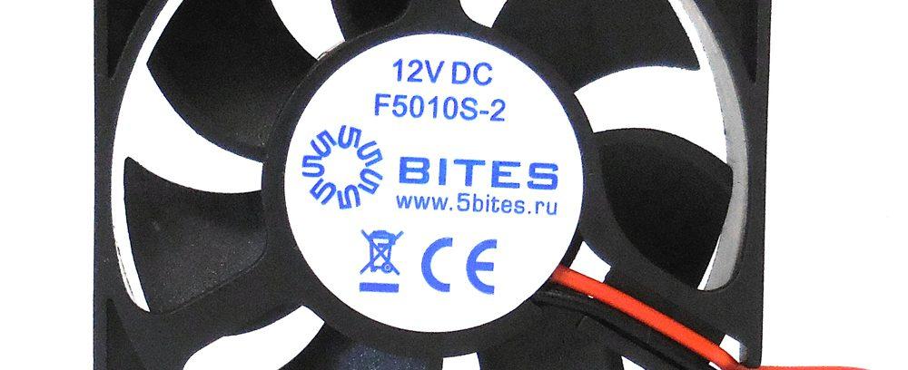 Вентилятор 5bites F5010S-2 50x50x10мм,подшипник скольжения,4500RPM,24dBa,2pin
