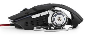 Игровая Мышь Гарнизон GM-710G Альфард, USB,чип Х3,черн,софт тач,2400DPI,5кн.+кол