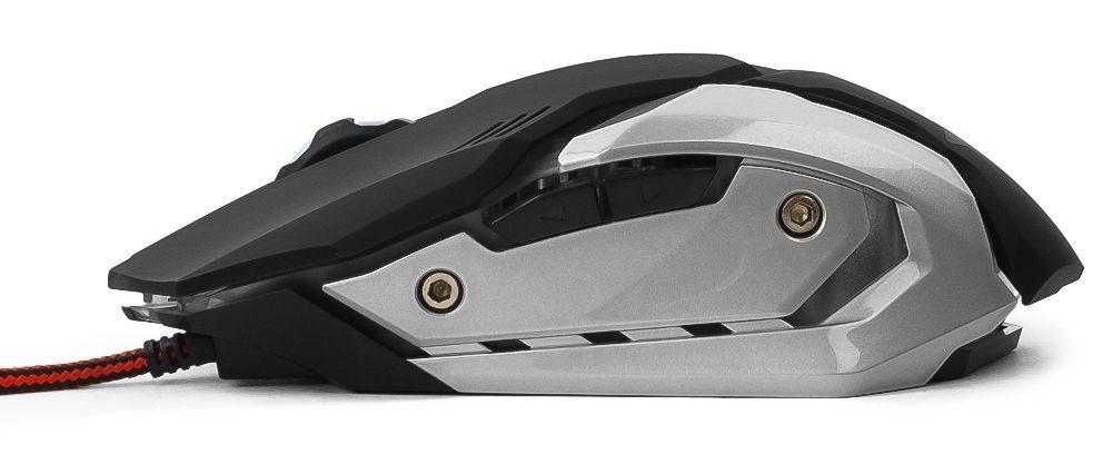 Игровая Мышь Гарнизон GM-760G Арктур2,USB,чип Х3,черн,софт тач,2400DPI,6кн.+кол-