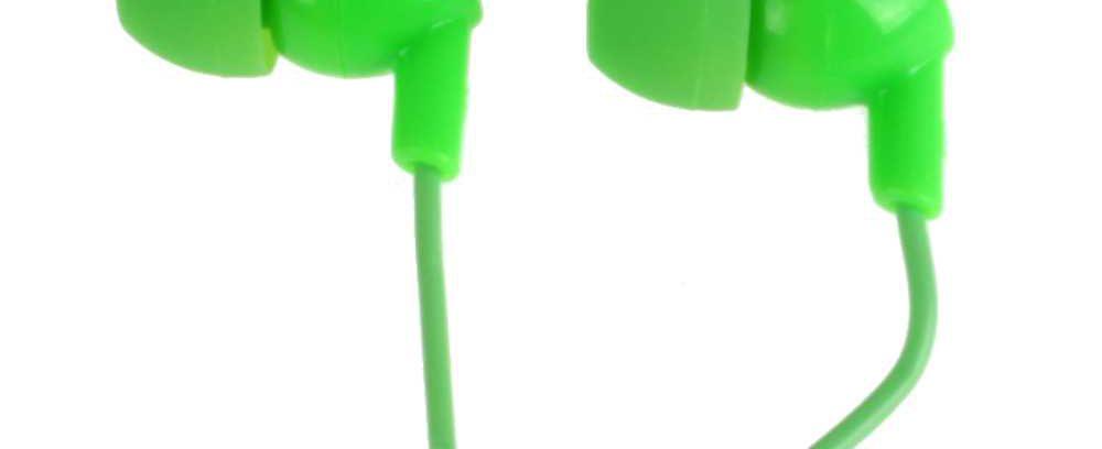 Наушники внутриканальные зеленые, OLMIO