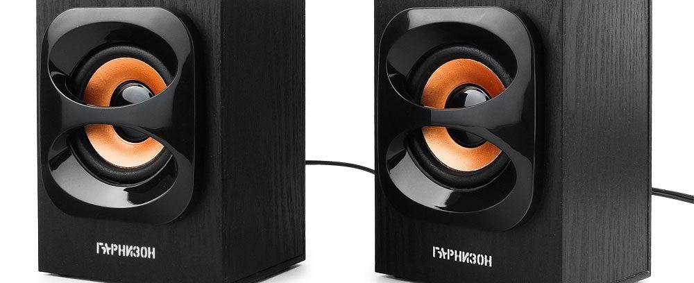 Ак.система 2.0 Гарнизон GSP-300 черный,6Вт, USB
